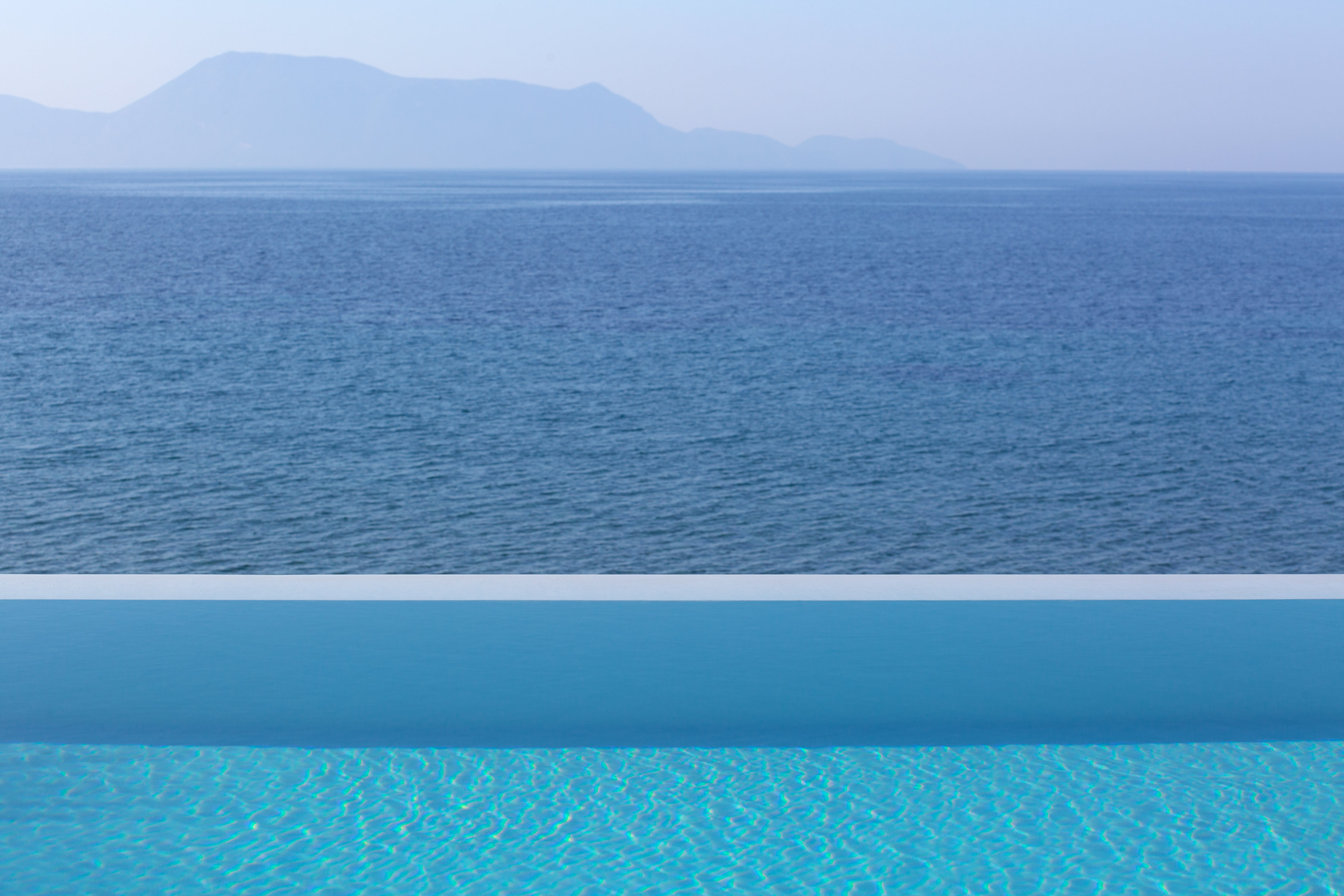 Private pool and sea view