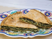 Spinach pie, traditional products of Lefkada