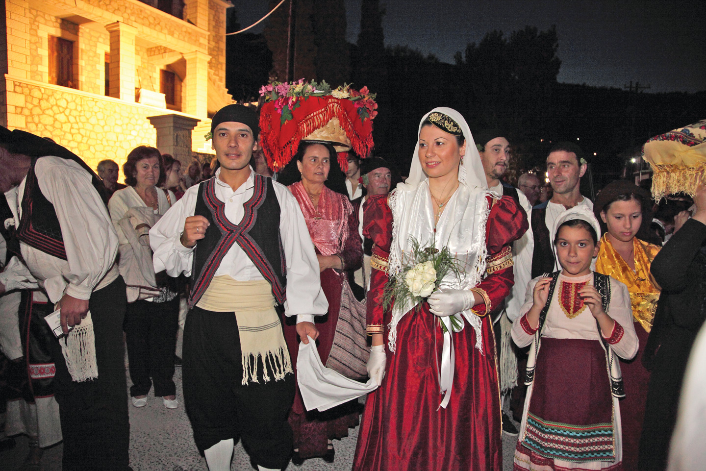 Folk wedding reenactment, Karya village, Lefkada