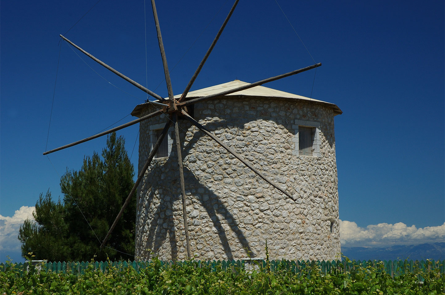 Windmill in Kavalos village | The island of Lefkada
