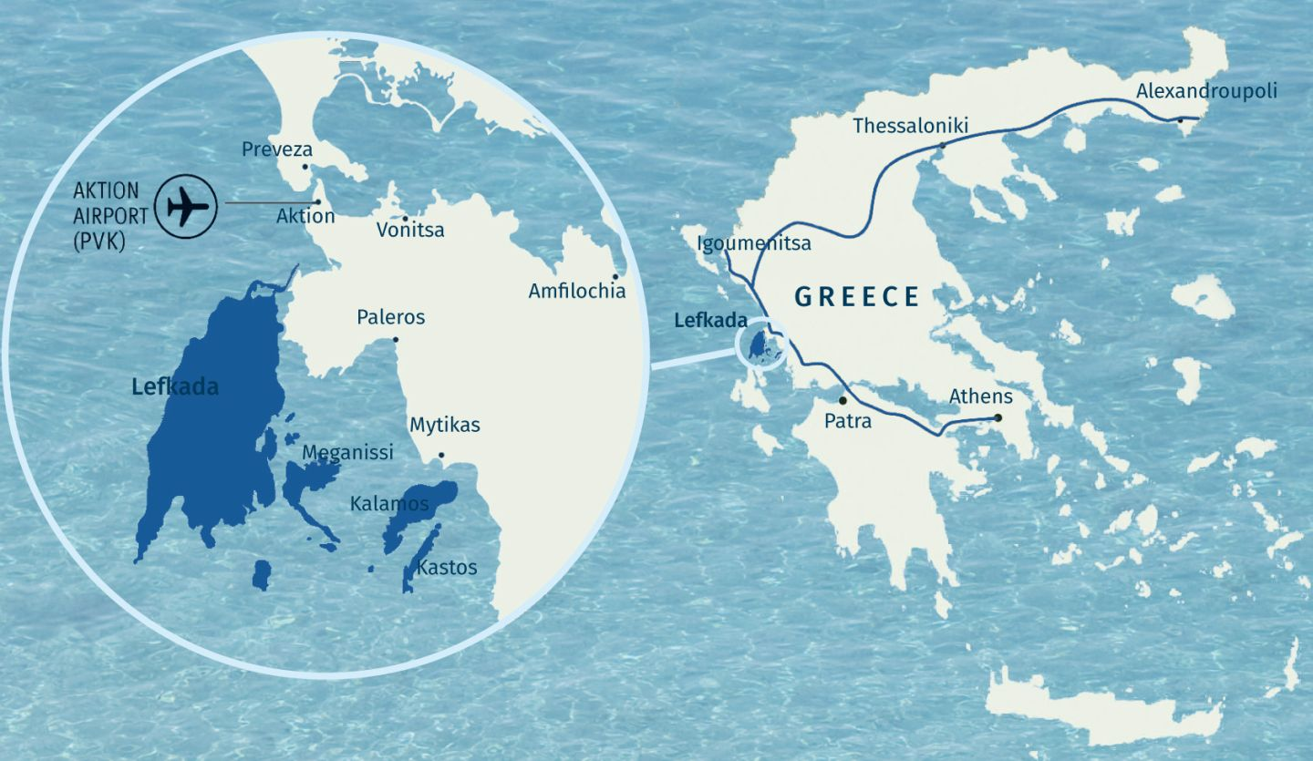Map Ionian islands | Lefkada | Lefkada Slow Guide