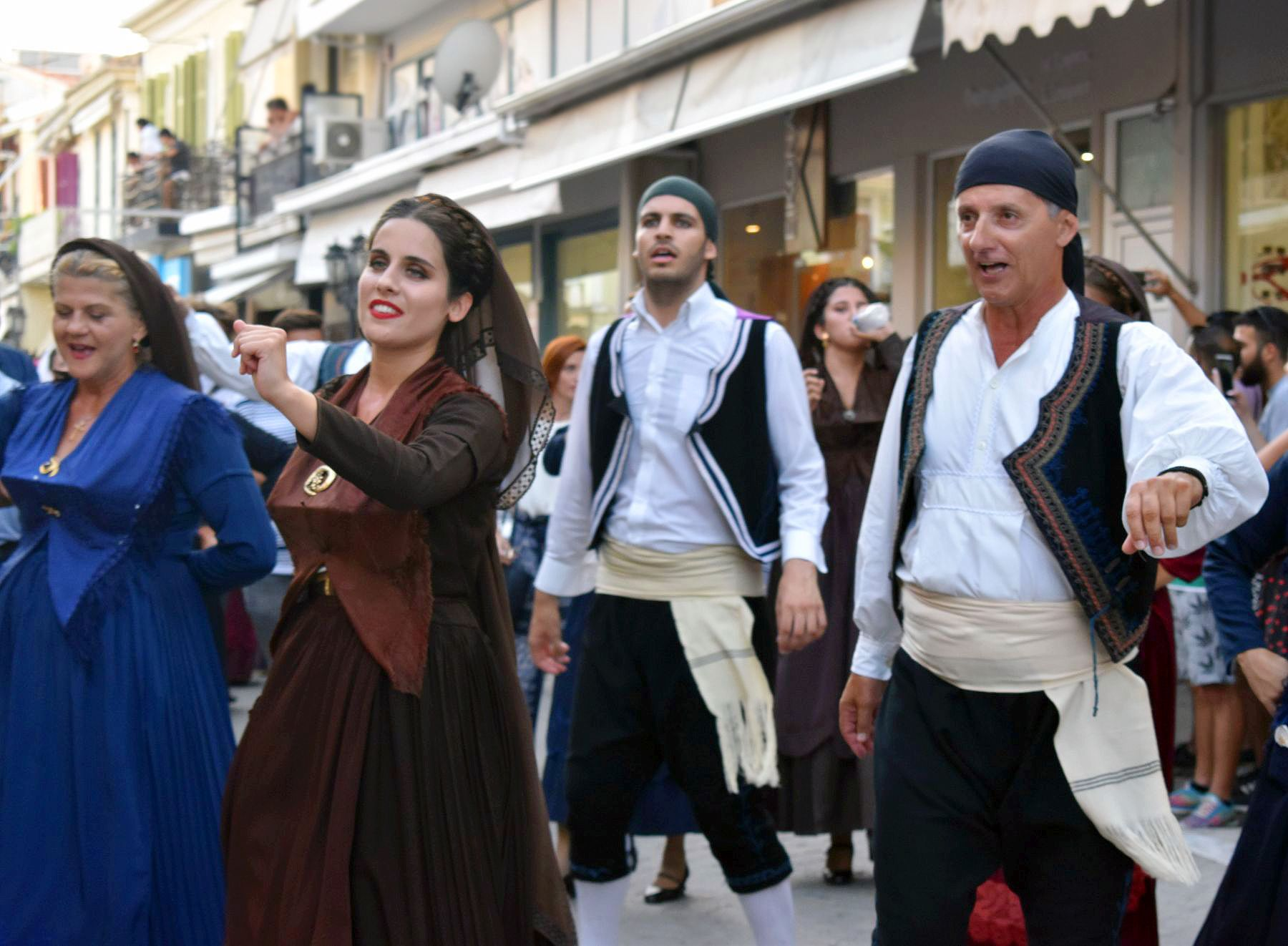 Dancers wearing traditional costumes, Lefkada Slow Guide